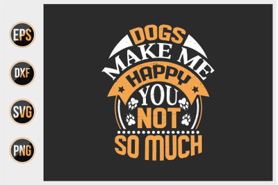 Dog typographic quotes design vector template