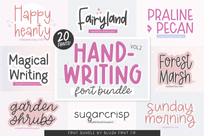 20 Fonts - HANDWRITING FONT BUNDLE VOL. 2!