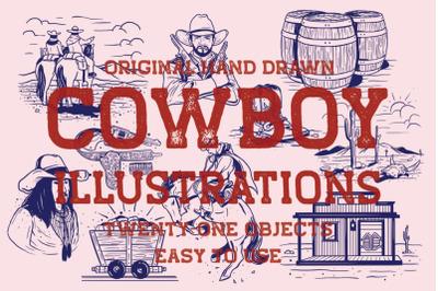Hand Drawn Cowboy Illustration