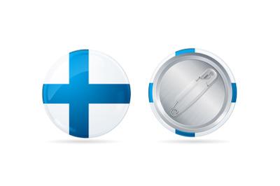 Finland Circle Button Badge Pin Set