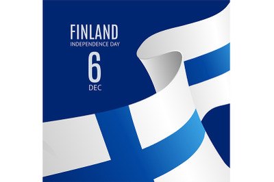 Finland Independence Day Banner Background. Vector