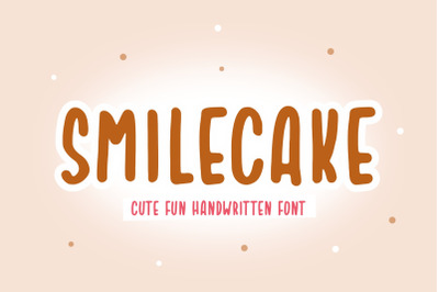 Smilecake Cute Fun Handwritten Font
