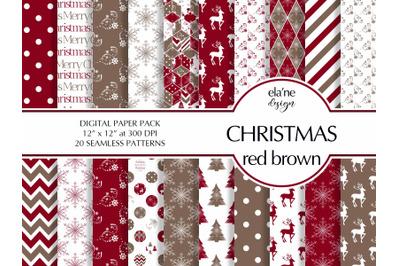 Christmas red brown