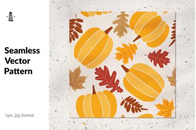 Pumpkin harvest time endless pattern