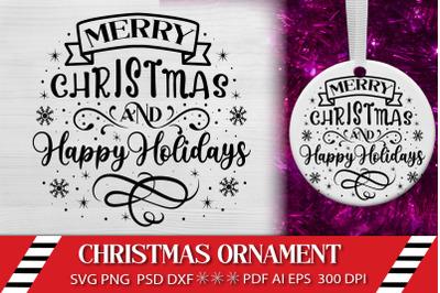 Christmas SVG Ornament Design. Merry Christmas SVG Farm Sign