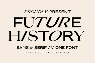Future History - 2 in 1 Font
