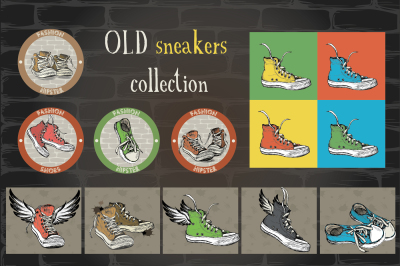 Old sneakers collection