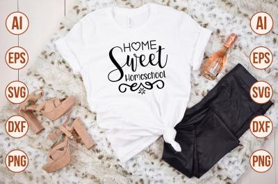 Home Sweet Homeschool SVG cut file
