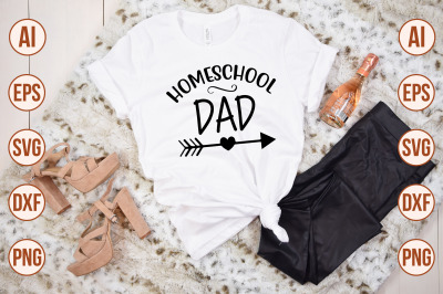 Homeschool Dad SVG  cut file