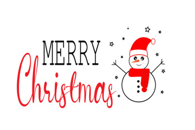 Merry Christmas SVG, Snow man svg ,Merry Christmas Cut Files, Merry Ch