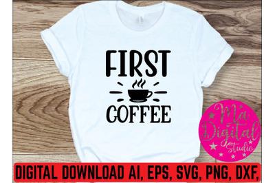 first coffee svg