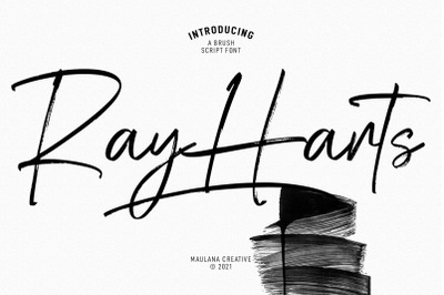 Ray Harts Brush Script Font