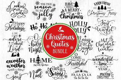 Christmas Quotes SVG Bundle, Silhouette Christmas svg, Wonderful time