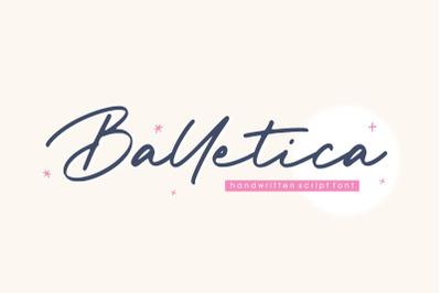 Balletica Handwritten Script Font