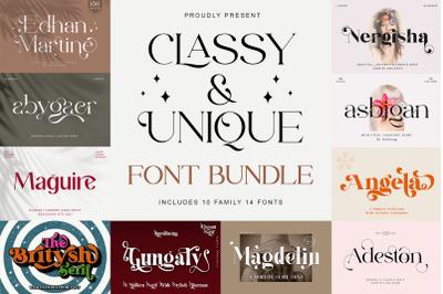 Classy and Unique Font Bundle