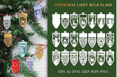 Bulb flags for Christmas garland. File to cut