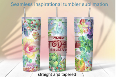 Inspiration tumbler sublimation 20oz Floral tumbler design