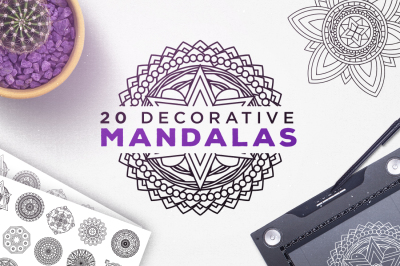 20 Decorative Mandalas