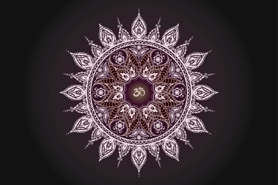 Mandala and two seamless pattern