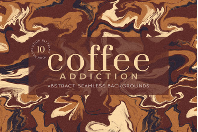 Abstract Coffee patterns Vol. 4 (Seamless)