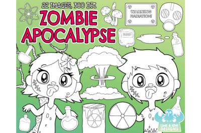Zombie Apocalypse Digital Stamps - Lime and Kiwi Designs