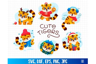 Happy New Year Tiger Symbol Set