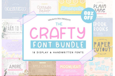 The Crafty Font Bundle - ALL Quirky Handwritten Fonts!