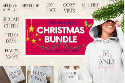 Christmas BUNDLE 30 designs SVG with quotes