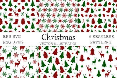 Christmas pattern. Christmas buffalo plaid. Christmas SVG