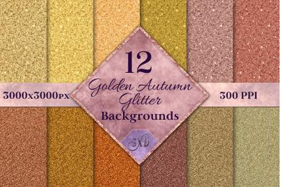 Golden Autumn Glitter - 12 Background Image Textures