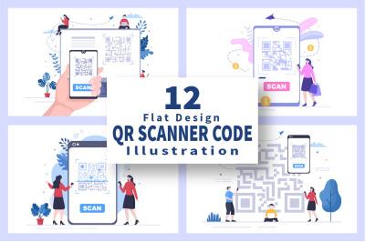 12 QR Code Scanner for Online Payment Illustration