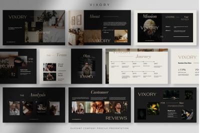 Vixory - Elegant Company Profile Presentation PPT