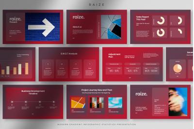Raize - Modern Gradient Infographic Statistics PPT