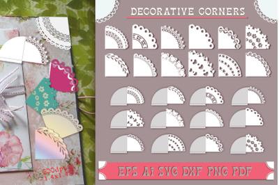 Decorative corners. File to cut