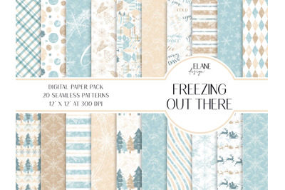 Freezing Out There Digital Paper Pack