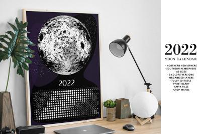 Moon Calendar 2022 Black&White