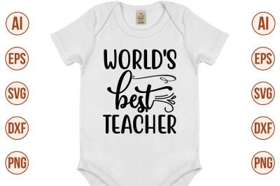 World's Best Teacher svg cut file