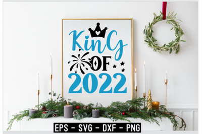 Happy New Year SVG Design Template