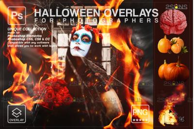Halloween overlay & Photoshop overlay: Halloween pumpkin overlays