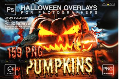 Pumpkins MEGA PACK 159 Halloween overlay