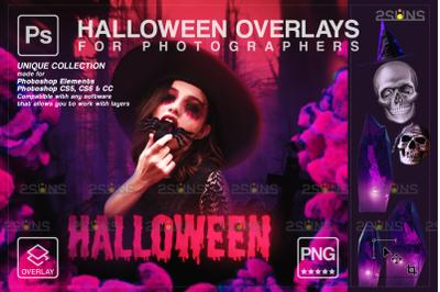 Halloween overlay & Color Smoke overlay, Photoshop overlay