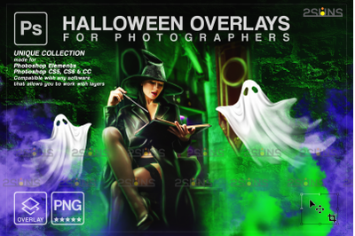 Halloween overlay & Ghost overlay, Photoshop overlay