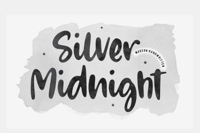 Silver Midnight Modern Handwritten Font