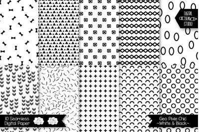 Pixie Chic Mixed Digital Paper | Seamless Geometric Background Pattern