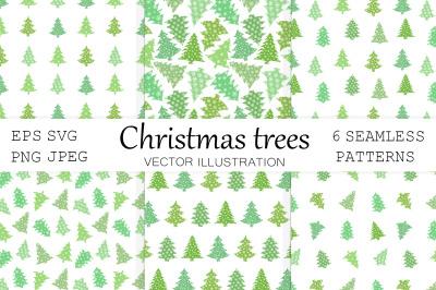Christmas trees pattern. Christmas pattern. Winter pattern