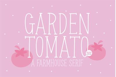 GARDEN TOMATO Farmhouse Serif Font