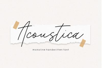 Acoustica Monoline Handwritten Font