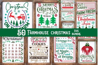 Christmas Svg, Farmhouse Svg Farmhouse Christmas ,Sign Bundle