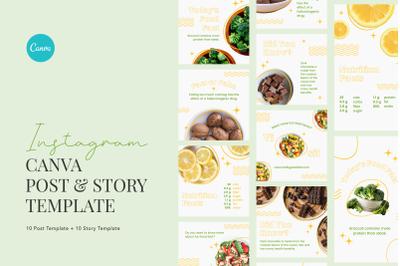 Elegant Food Nutrition Facts Canva