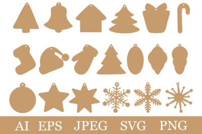 Christmas Gift Tags. Gift Tags SVG. Gift Tags templates